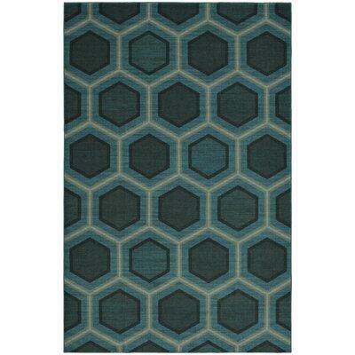 Honeycomb Blue Area Rug Rug Size: 5x8