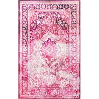 Blair Pink Area Rug Rug Size: 5x8