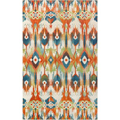 Lenora Painted Batik Spice Orange Area Rug Rug Size: 5x8