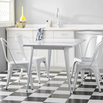 Corrado 5 Piece Dining Set Finish: White