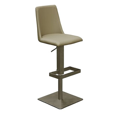 Witton Adjustable Height Bar Stool Color: Green