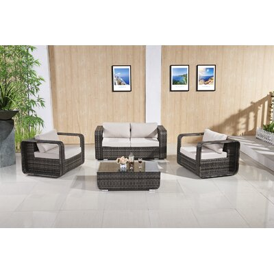 Excellent Rattan Sofa Set Cushions Kylah - Product picture - 9715
