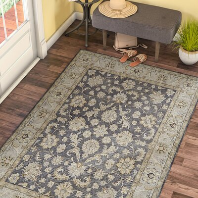 Barrview Hand-Tufted Charcoal Area Rug Rug Size: Rectangle 5 x 8