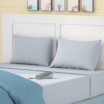 Elisa Kids Solid Sheet Set Size: Full, Color: Sliver Gray