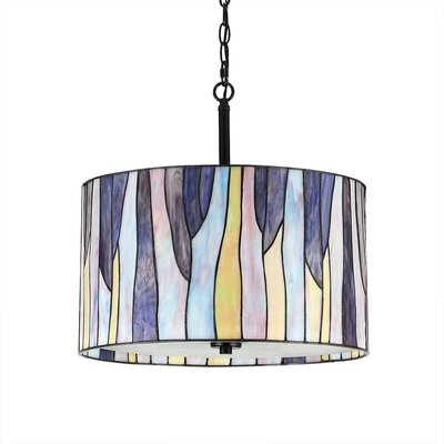 Eicher 3-Light Drum Pendant Color: Purple