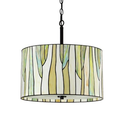 Eicher 3-Light Drum Pendant Color: Green