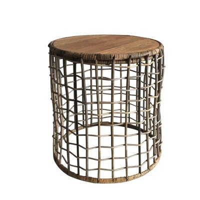 Canaan Open Weave End Table