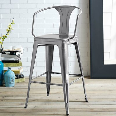 Garlyn 29.5 Bar Stool Color: Gunmetal
