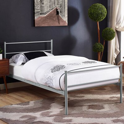 Donnellan Queen Platform Bed Color: Gray, Size: Twin