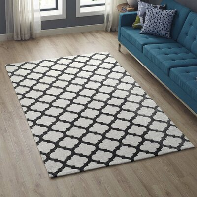 Tusten Moroccan Trellis Ivory/Charcoal Area Rug Rug Size: Rectangle 5 x 8