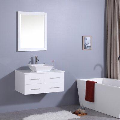 Havel 36 Single Bathroom Vanity Set Base Finish: White