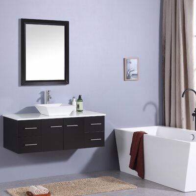 Havel 48 Single Bathroom Vanity Set Base Finish: Espresso