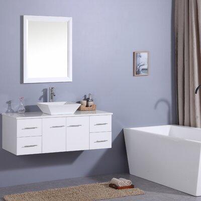 Havel 48 Single Bathroom Vanity Set Base Finish: White