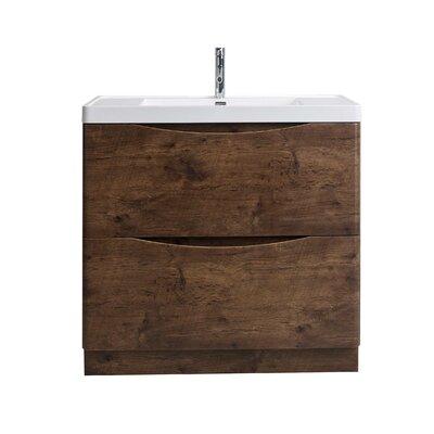 Hatter Rosewood Floor Mount 35 Single Bathroom Vanity Set