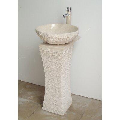 Roca 36 Pedestal Bathroom Sink with Overflow