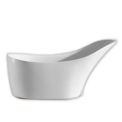 Lisa Free Standing Acrylic 30 x 67 Soaking Bathtub