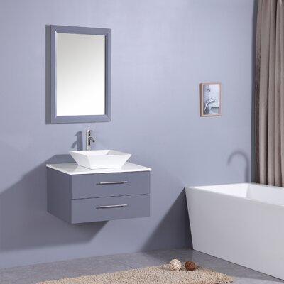 Havel 30 Single Bathroom Vanity Set Base Finish: Gray