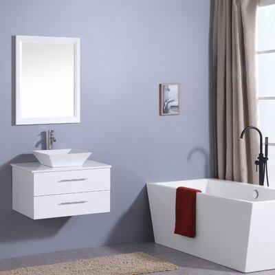 Havel 30 Single Bathroom Vanity Set Base Finish: White