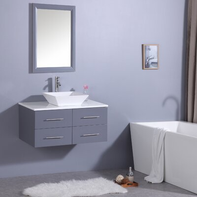 Havel 36 Single Bathroom Vanity Set Base Finish: Gray