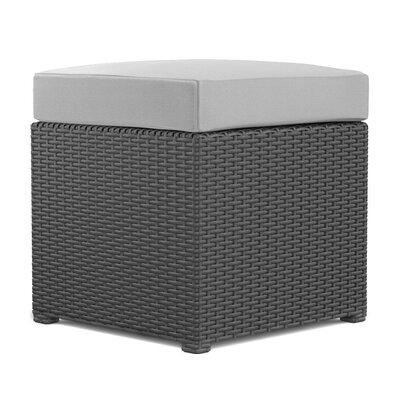 Sheba Cube Ottoman Upholstery: Gray