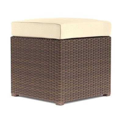 Sheba Cube Ottoman Upholstery: Brown/Tan