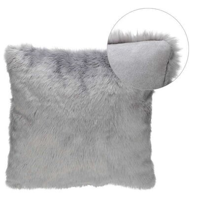 Dreyer Trim Faux Fur Throw Pillow
