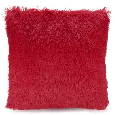 Deloney Throw Pillow Color: Red