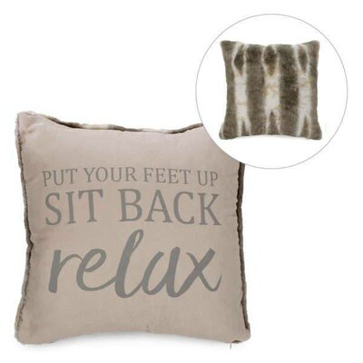 Doyon Sit Back Faux Fur Throw Pillow