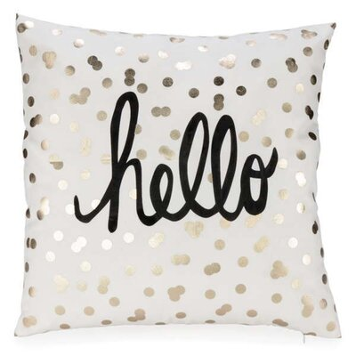 Goris Polka Dots Hello Throw Pillow