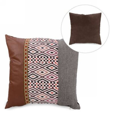 Maile Faux Leather Throw Pillow