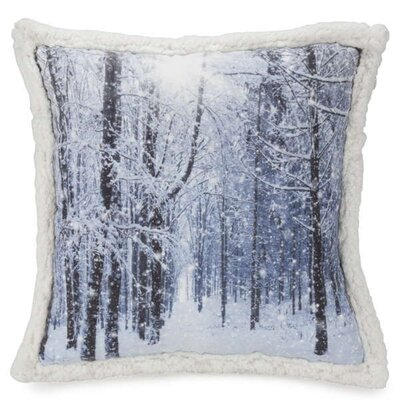 Kibambe Winter Landscape Throw Pillow