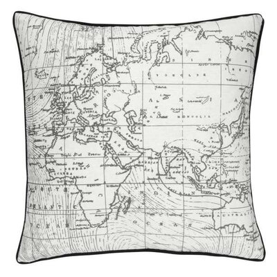 Erdem World Map Throw Pillow