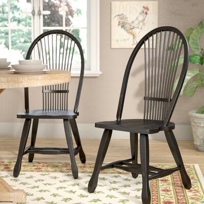 Holsworthy Side Chair (Set of 2) Finish: Black