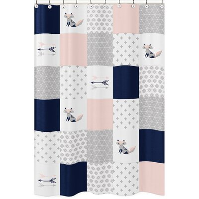 Fox Patch Shower Curtain