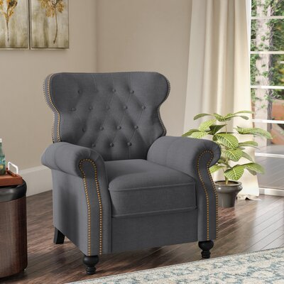 Leverette Recliner Upholstery: Charcoal