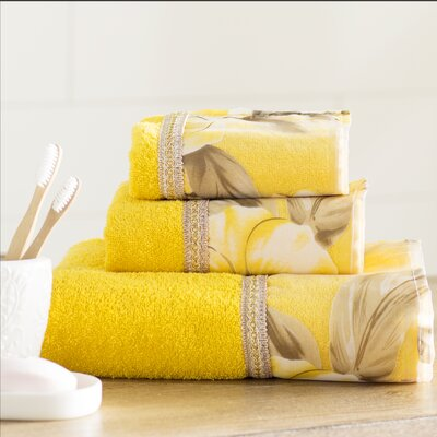 Lys 3 Piece Towel Set Color: Yellow