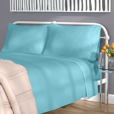 Akridge 300 Thread Count 100% Cotton Sheet Set Size: Full, Color: Teal