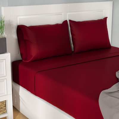 Cullen 400 Thread Count 100% Premium Cotton Sheet Set Size: Queen, Color: Burgundy