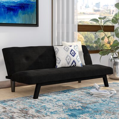 Oasis Convertible Sofa Upholstery: Black