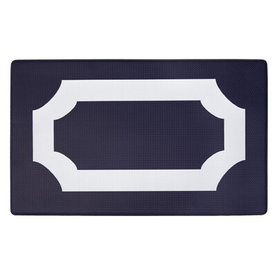 Duggins Anti Fatigue Kitchen Mat Color: Navy