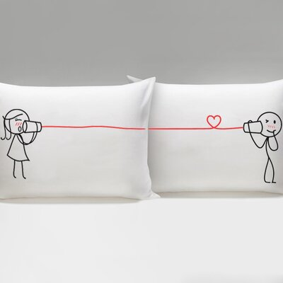 2 Piece Say I Love You Too Pillow Case Set
