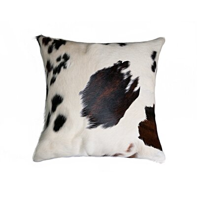 Torino Leather Throw Pillow Color: Tricolor