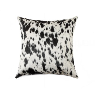 Torino Leather Throw Pillow Color: S&P/ Black/White