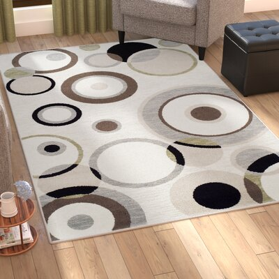 Bryleigh Cream/Black Area Rug Rug Size: Rectangle 5 x 8