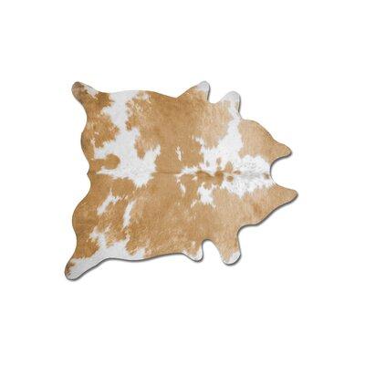 Goosman Handmade Cowhide TanWhite Area Rug