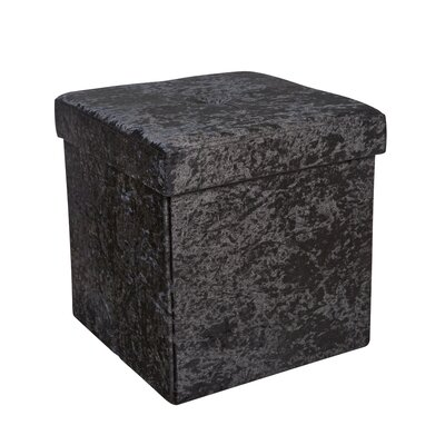 Sati Storage Ottoman Color: Black