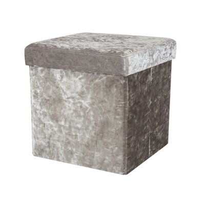 Sati Folding Storage Ottoman Color: Silver