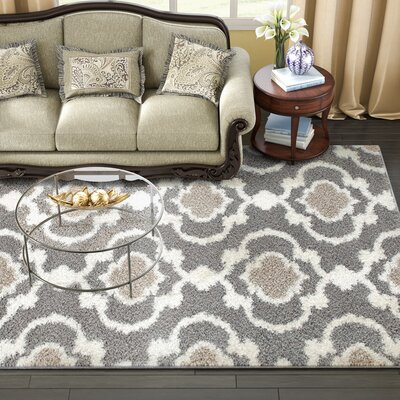 Hegwood Gray Area Rug Rug Size: Rectangle 710 x 10