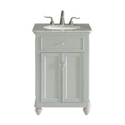 Fawkes 24 Single Bathroom Vanity Set Base Finish: Light Gray, Top Finish: Cashmere White