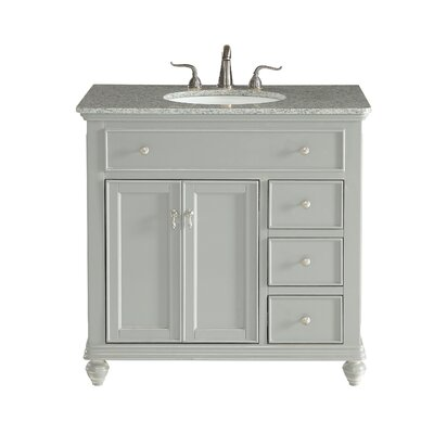 Fawkes 36 Single Bathroom Vanity Set Base Finish: Light Gray, Top Finish: Cashmere White